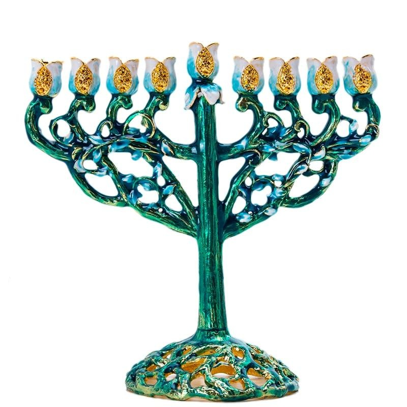 Chandelier juif (menorah) Coloré