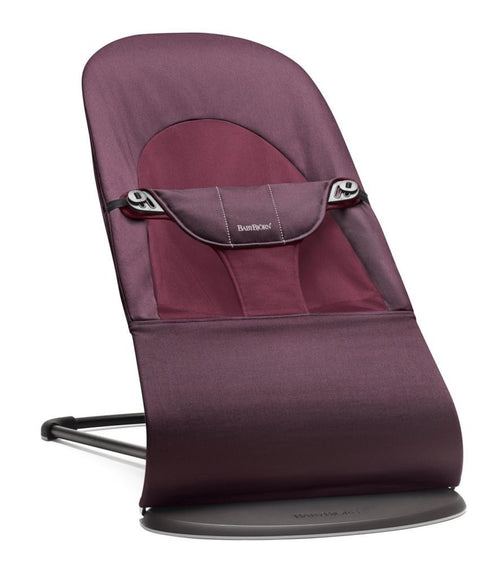 Baby Bjorn Bouncer Balance Soft in Plum Red Cotton