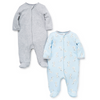 Little Me Layette Collections Puppy Hugs 2-Pack Footies