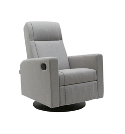 Dutailier Lula Swivel Glider with Quick Shipment in Matte Black-15 - 3138 - AB Fabric