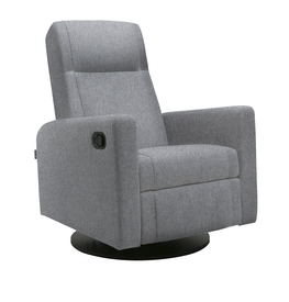 Dutailier Lula Swivel Glider with Quick Shipment in Matte Black-15 - 5299 - D Fabric