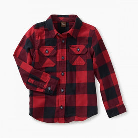 Tea Collection Flannel Shirt in  Buffalo Plaid