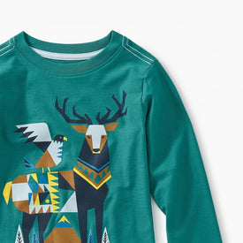 Tea Collection Scandi Stag Graphic Tee BONSAI