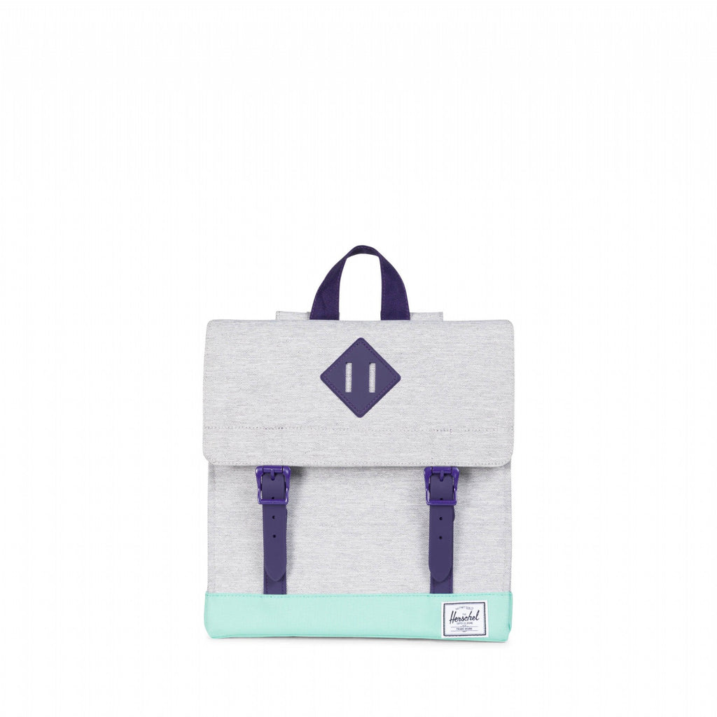 HERSCHEL SURVEY KID POLY/RUBBR LT GREY/LG