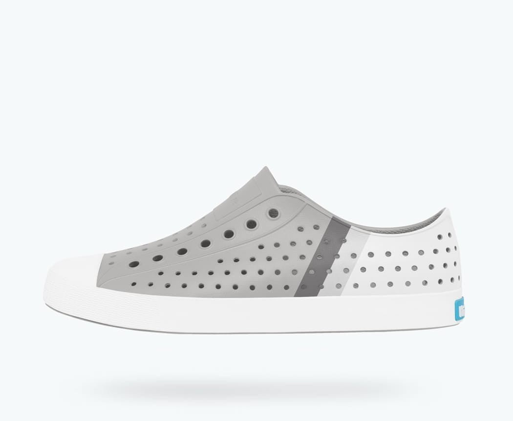 Native Shoes Jefferson Block Junior in PIGEON GREY / SHELL WHITE / GRADIENT