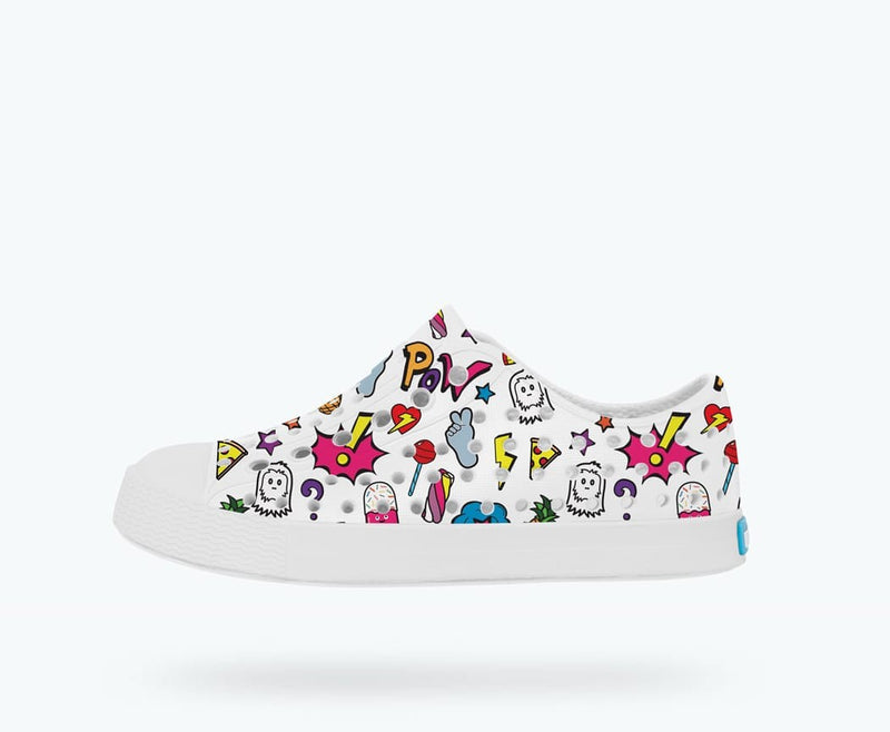 Native Shoes Jefferson Iridescent Junior in MALIBU PINK / SHELL WHITE / GALAXY