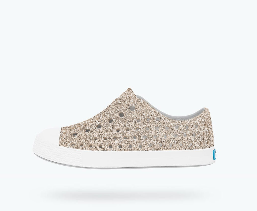 Native Shoes Jefferson Bling Child in METAL BLING / SHELL WHITE