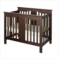 DaVinci Annabelle Mini 2-in-1 Convertible Wood Baby Crib in Espresso
