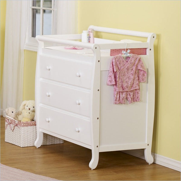 DaVinci Emily Pine Wood 3-Drawer Changing Table in White
