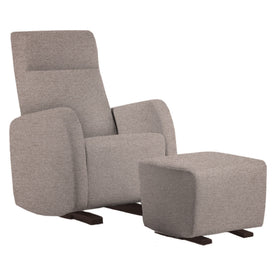 Dutailier Etna Upholstered Matte Coffee Glider Chair in Gris(5211)