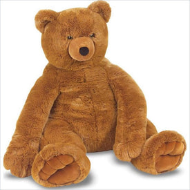 Melissa & Doug Jumbo Brown Teddy Bear Plush Stuffed Animal