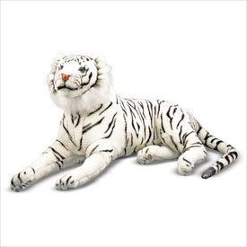 Melissa & Doug White Tiger Plush Stuffed Animal