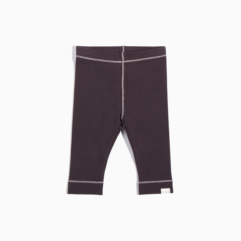 Miles Baby DARK GREY WITH PINK STITCHING LEGGINGS