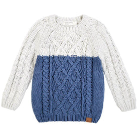 Miles Baby/Boy Sweater Knit in Blue