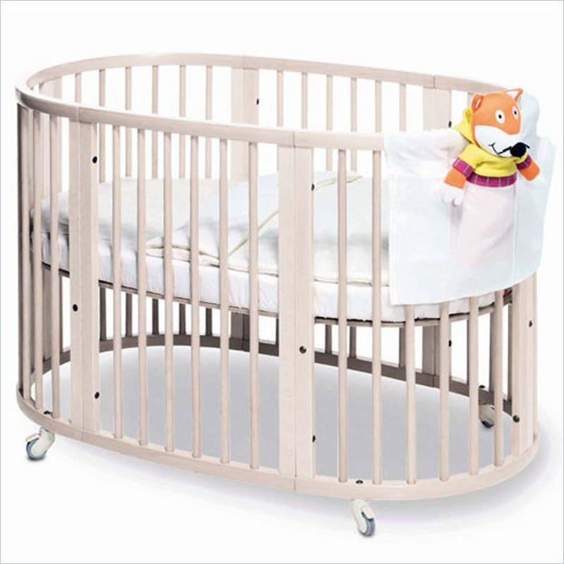 Stokke Sleepi 3-in-1 Conv. Crib in White with Stokke Foam Crib Mattress