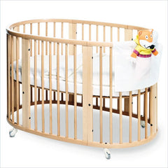 Stokke Sleepi 3-in-1 Conv. Crib in Natural with Stokke Foam Crib Mattress