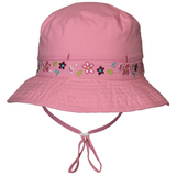 Calikids Girls Vented Quick Dry Hat in Pink