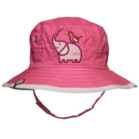 Calikids Reversible Cotton Bucket Hat in Pink