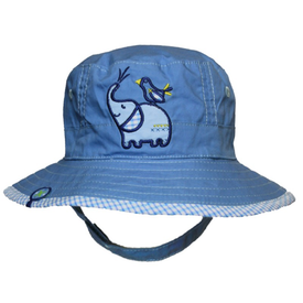 Calikids Reversible Cotton Bucket Hat in Blue