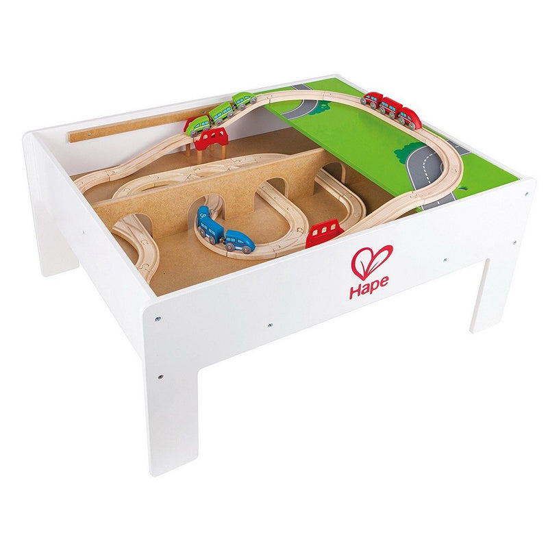 Hape Play & Stow Reversible Train Activity Table