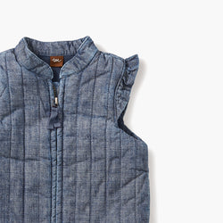 Tea Collection Citizen Chambray Zip Baby in Blue