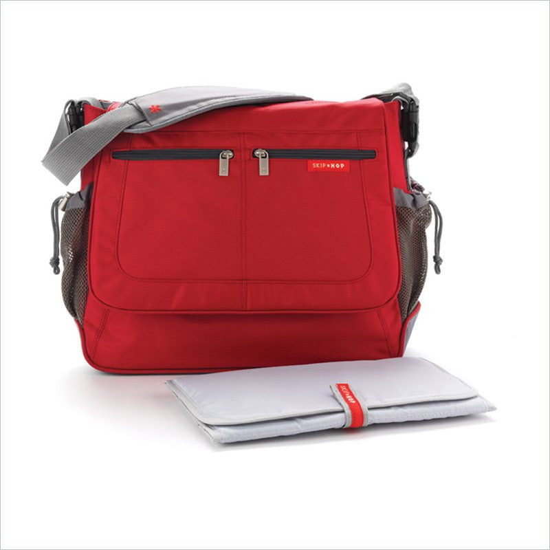 Skip Hop Via Messenger Diaper Bag in Red