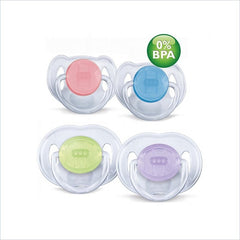 Avent Twin Pack Free Flow Soothers - 6 to 18 Months