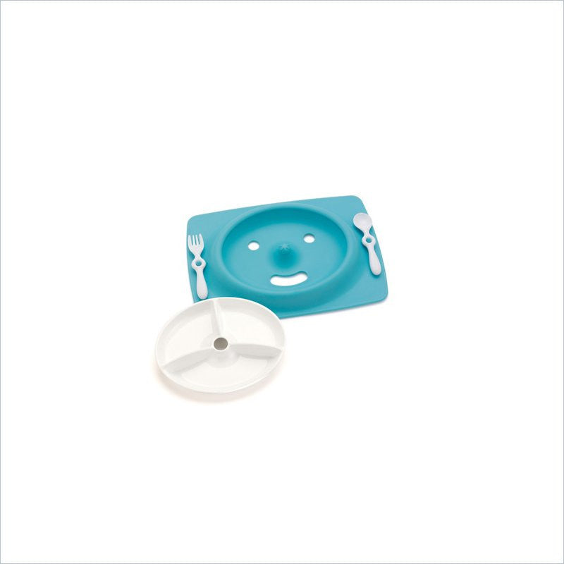 Skip Hop Mate Stay-Put Mat & Plate in Sky Blue
