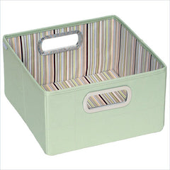 "JJ Cole 6.5"" Green Stripe Storage Box"