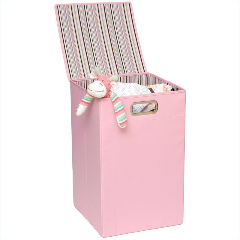 JJ Cole Pink Stripe Hamper