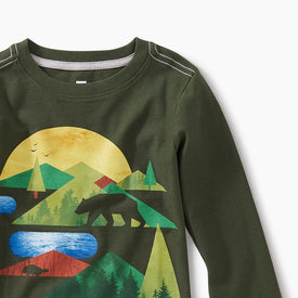 Tea Collection Great Lakes Graphic Tee in  SPRUCE
