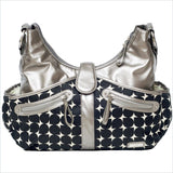 JJ Cole Swag Diaper Bag in Silver Drop