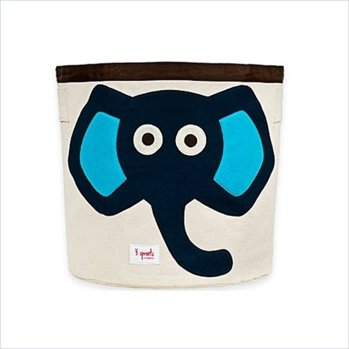 3 Sprouts Elephant Storage Bin in Blue