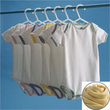 BonnBonn Antimicrobial Moisture Control Baby Onesie in White with Yellow Trim