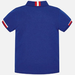 Mayoral Short sleeved polo shirt with contrasting details for boy