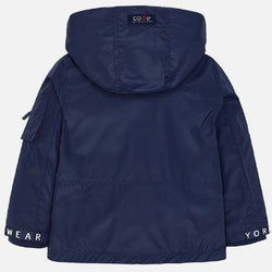 Mayoral Nautical windbreaker jacket for boy in Navy Blue