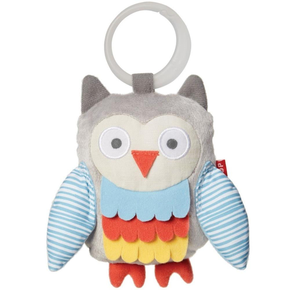 Skip Hop Treetop Friends Developmental Toys Wise Owl Stroller Toy Grey And Pastel