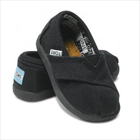 Tiny TOMS Classics Kids Shoes in Black Canvas