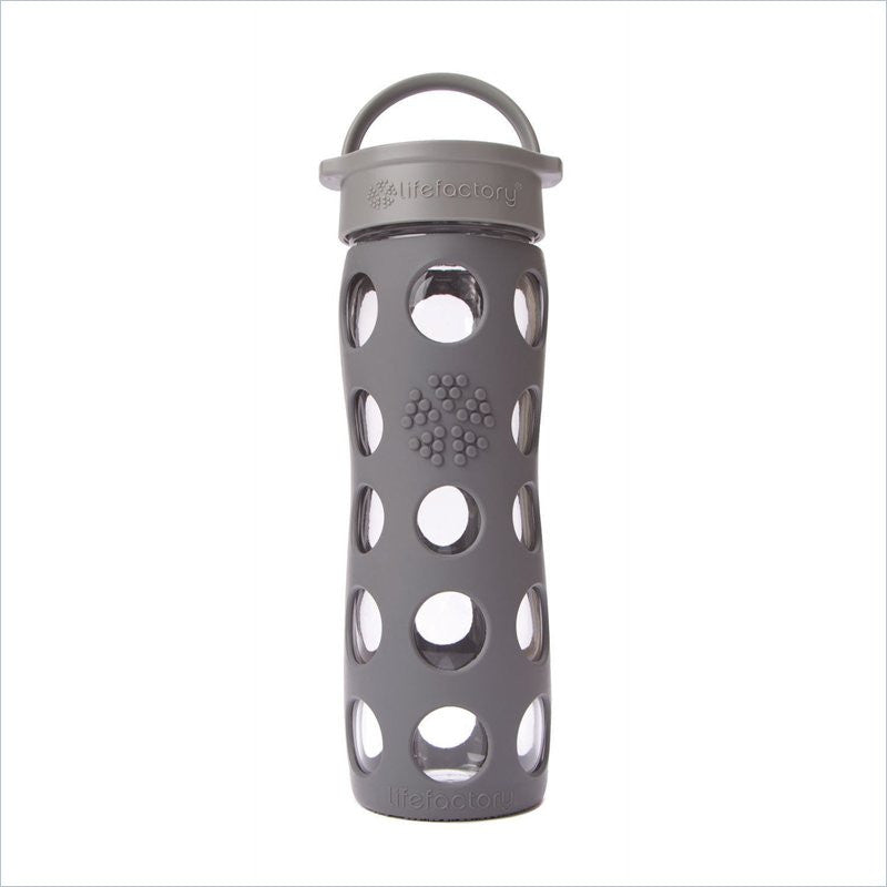 Lifefactory 16 oz Glass Beverage Bottle in Graphite