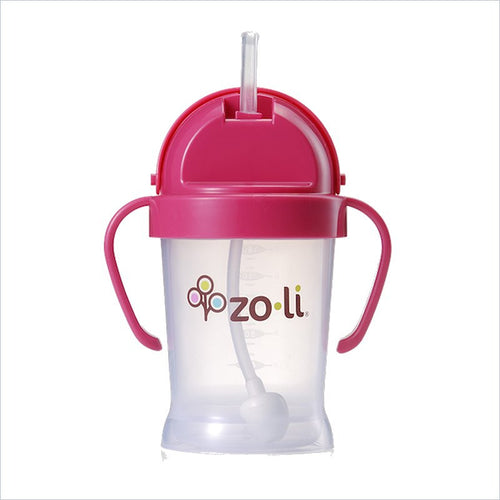 Zoli Bot Straw 6oz Sippy Cup in Pink