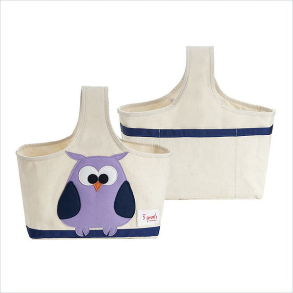 3 Sprouts Owl Storage Caddy in Purple