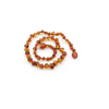 Baltic Amber Teething Necklace in Bean Cognac