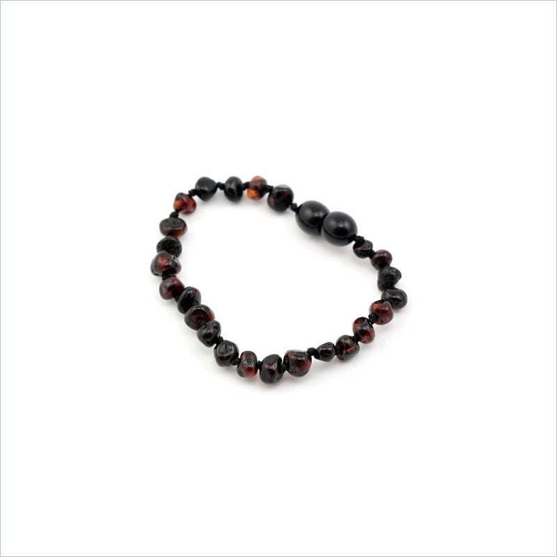 Baltic Amber Teething Anklet in Cherry