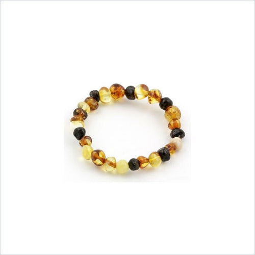 Baltic Amber Teething Anklet in Multi Color