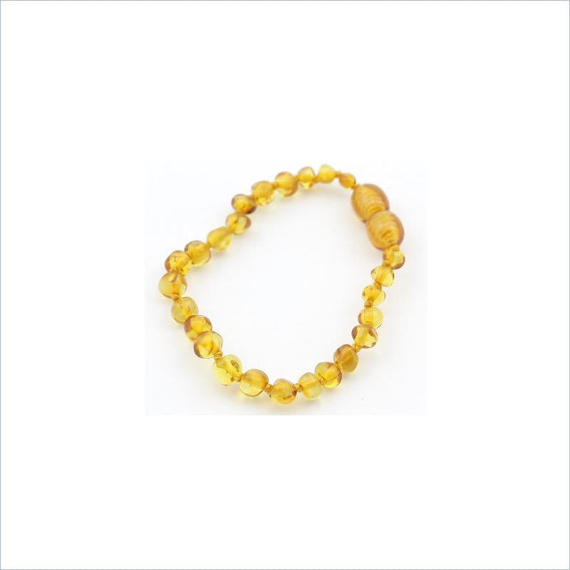 Baltic Amber Teething Anklet in Honey