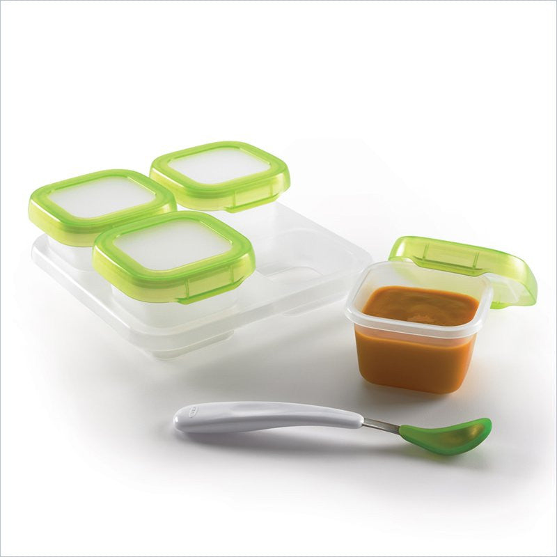 OXO Tot Baby Blocks Freezer Storage Containers (4 oz.) in Green