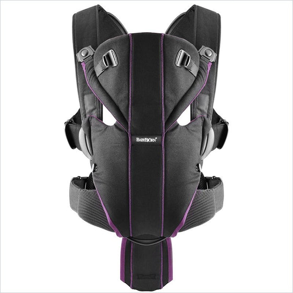 a6725adce13 Baby Bjorn Miracle Baby Carrier in Black Purple