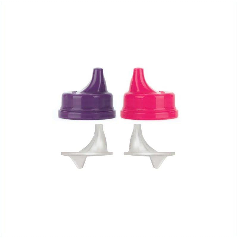 Lifefactory Sippy Cap Set in Raspberry and Royal Purple