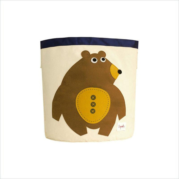 3 Sprouts Bear Storage Bin in Toffee