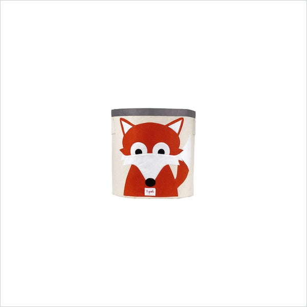 3 Sprouts Fox Storage Bin in Orange